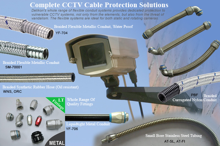 Flexible Conduit System For Complete CCTV Cable Protection Solutions